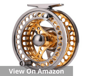 Sougayilang Fly Fishing Reel Large Arbor 2+1 BB with CNC-machined Aluminum Alloy Body and Spool in Fly Reel