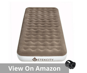 Etekcity Camping Air Mattress Inflatable Single High Airbed Blow up Bed Tent Mattress