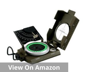 Eyeskey Waterproof Multifunctional Military Metal Sighting Compass