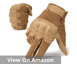 JIUSY Military Shooting Hard Knuckle Hiking Gloves