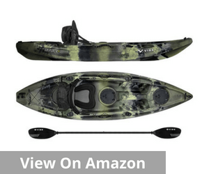 Vibe Kayaks Skipjack 90 | 9ft Angler - Single Person, Sit On Top Fishing Kayak