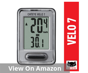 Velo 7 Wired Bike Computer with Odometer and Speedometer