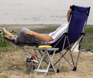 Camping Chair With a Footrest