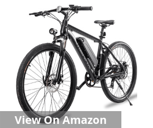 Aluminum Electric Mountain Bike 7 Speed E-Bike