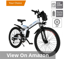 Electric Folding Mountain Bike with Removable Large Capacity Lithium-Ion Battery
