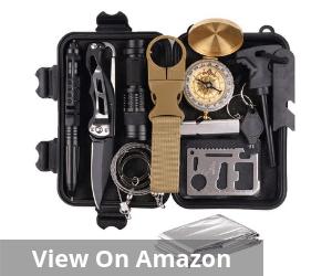 Survival Gear Kits 13 in 1- Outdoor Emergency SOS Survive Tool